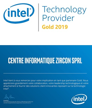 Intel® Technology Provider Gold Partner Membership 2019